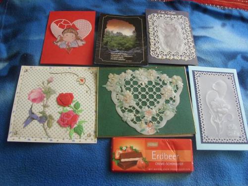 Karteczki- pocieszanki od koleżanek z forum pergamo, które dotarły do mnie w czasie pobytu w szpitalu