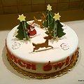 Mikołaj w lesie #jelonki #mikołaj #TortŚwiateczny