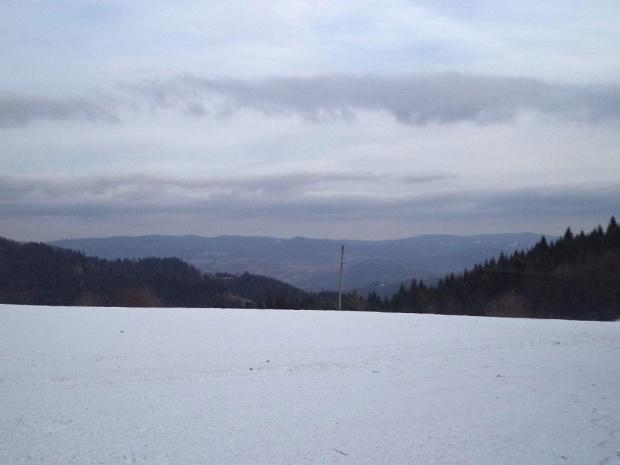 Pasmo Jaworzyny Krynickiej z Przełęczy Gromadzkiej #góry #beskidy #BeskidSądecki #RuskiWierch #obidza #rozdziela #BiałaWoda