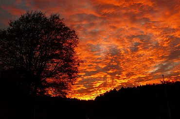 ... rozpalone niebo ... #ZachódSłońca