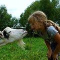 wakacyjne przygody ... :) #NaWsi #koza #Dominika #Chomiąża #wakacje #lato
