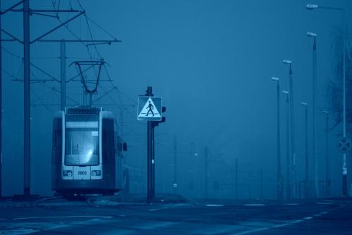 Mgła - niebieski