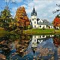 pałac w Olszanicy jesienią #jesien #odbicia #zabytki