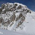 Widok z punktu ciut powyżej platformy na Gartnerkofel - szóstka FIS #Alpy #Austria #Narty #Nassfeld