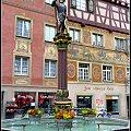cudna fontanna i fresk pokazujaca powrot krola Karola z wojny 1476 #architektura