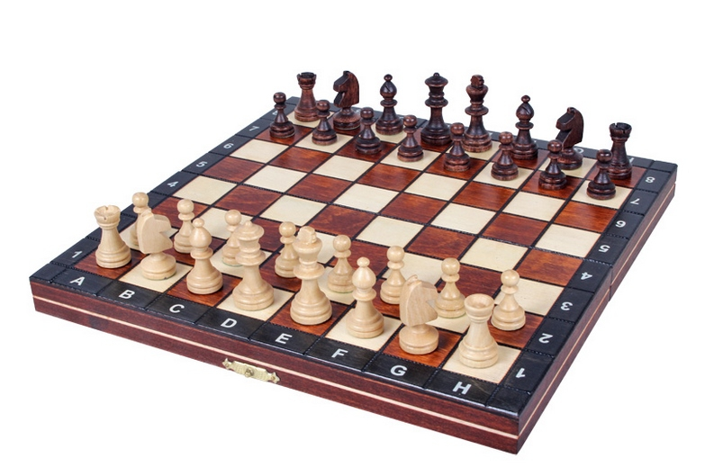 Brand new hand crafted magnetic wooden chess set ebay for Hand crafted chess set